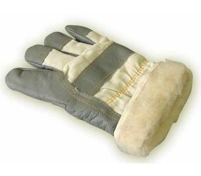 Перчатки меховые кожаные