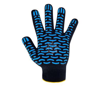 Перчатки х/б волна черн.